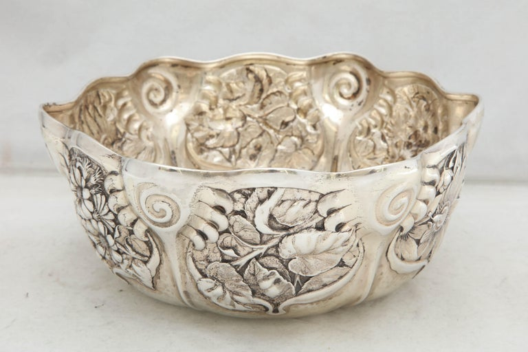 Early 20th Century Art Nouveau Sterling Silver Serving Bowl by Whiting Mfg. Co For Sale