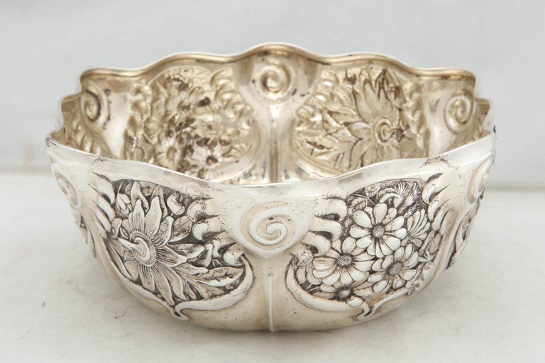 Art Nouveau Sterling Silver Serving Bowl by Whiting Mfg. Co For Sale 1