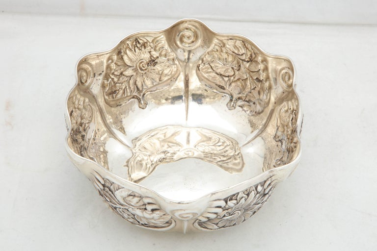 Art Nouveau Sterling Silver Serving Bowl by Whiting Mfg. Co For Sale 3