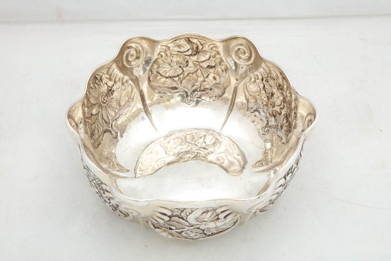 Art Nouveau Sterling Silver Serving Bowl by Whiting Mfg. Co For Sale 4