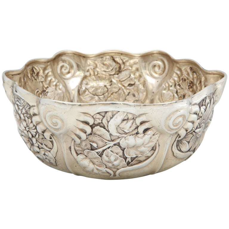 Art Nouveau Sterling Silver Serving Bowl by Whiting Mfg. Co For Sale