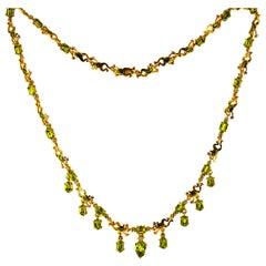 Art Nouveau Drop Necklaces