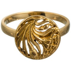 Art Nouveau Stil, 18 Karat Gold Ring