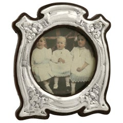 Art Nouveau Style Antique Edwardian Sterling Silver Photograph Frame, 1905