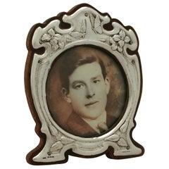 Art Nouveau Style Antique Edwardian Sterling Silver Photograph Frame