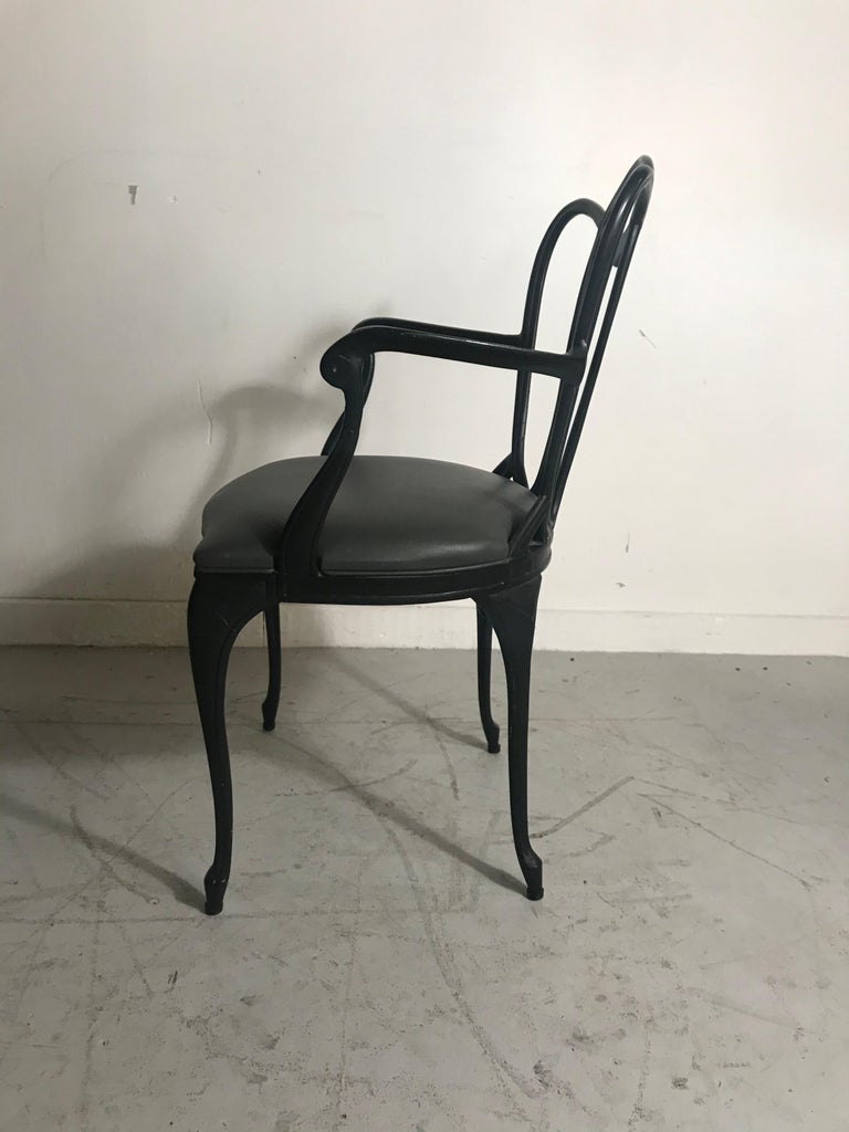 20th Century Art Nouveau Style Cast Aluminum Armchair by Crucible Products Corp. 1960