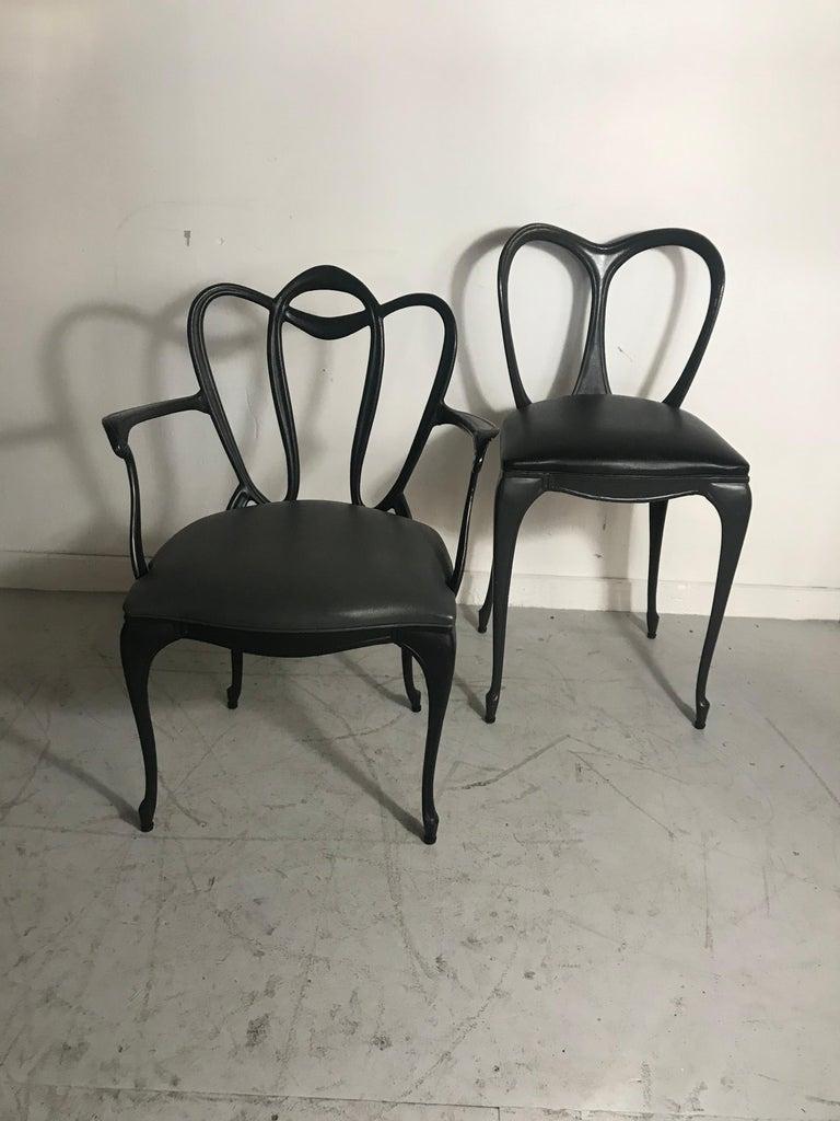 Art Nouveau Style Cast Aluminum Armchair by Crucible Products Corp. 1960 2