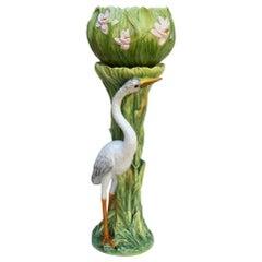 Art Nouveau Style Ceramic Jardinière on Stand, Italy, Excellent Condition