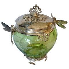 Art Nouveau Style Dragonfly Jar