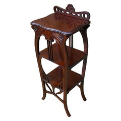 Art Nouveau Style Etagere Stand / Side Table in the Manner of Louis Majorelle