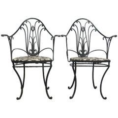 Art Nouveau Stylized Garden Chairs
