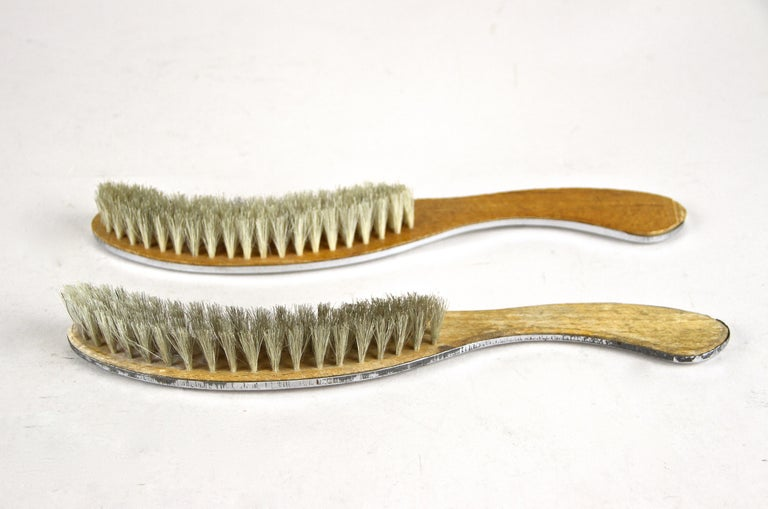 Art Nouveau Table Dust Pan and Brush Set, Nickel Plated, Austria, circa 1915 For Sale 6