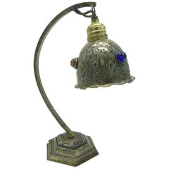 Art Nouveau Table Lamp from the 1920s in Copper and Brass