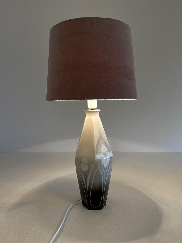 Ceramic Art Nouveau Table Lamp Rörstrand Sweden, 1900 For Sale