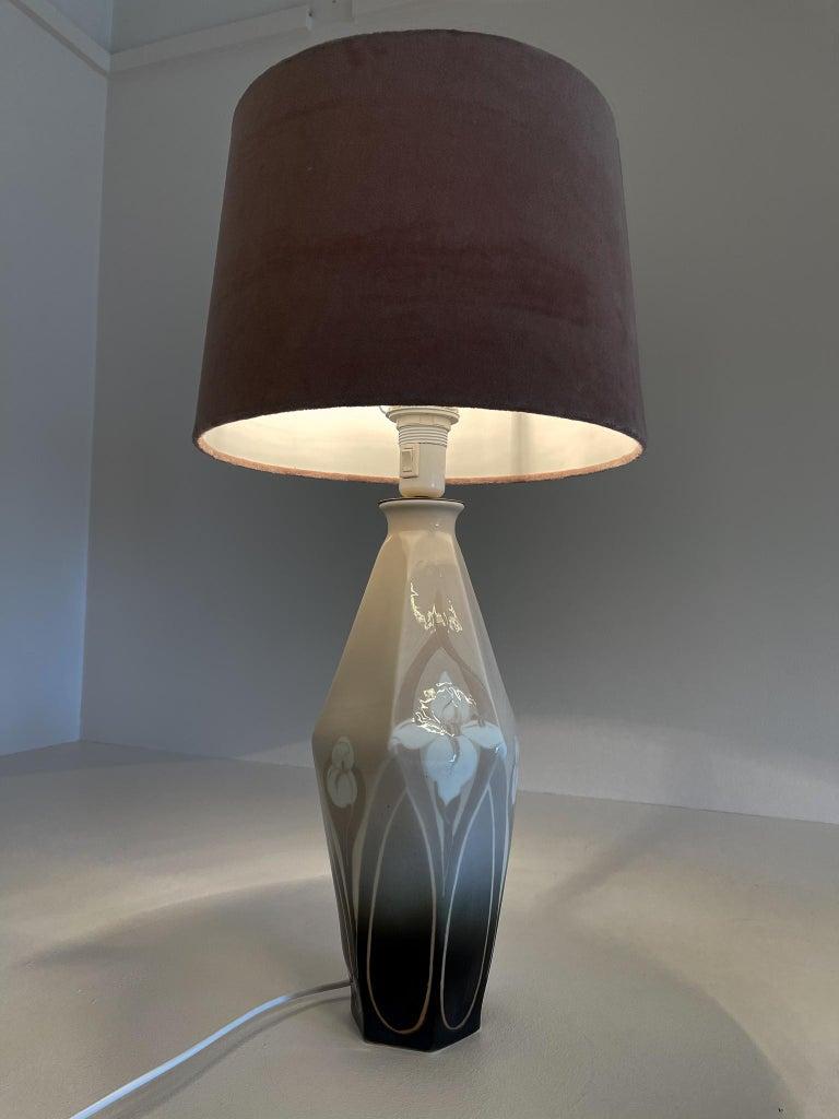Art Nouveau Table Lamp Rörstrand Sweden, 1900 For Sale 1