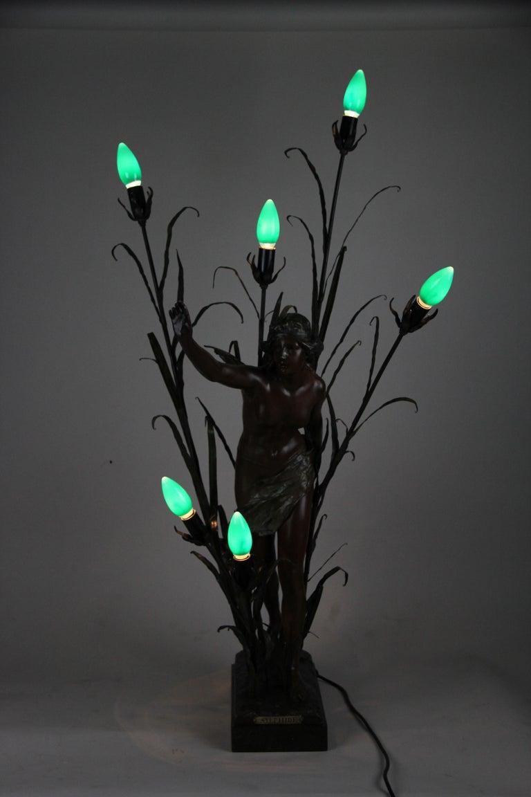 Cast Art Nouveau Table Lamp