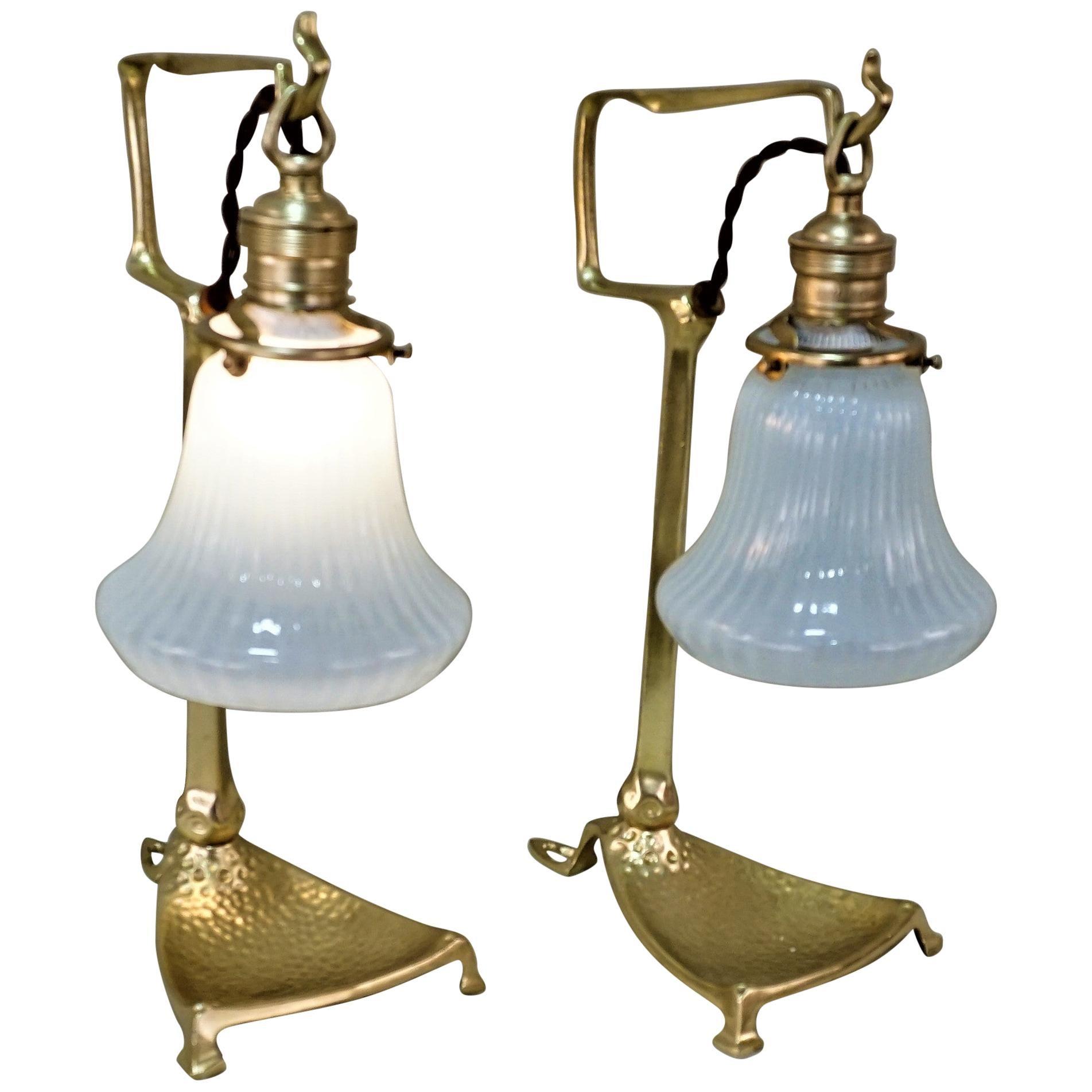Art Nouveau Table Lamps by Friedrich Adler