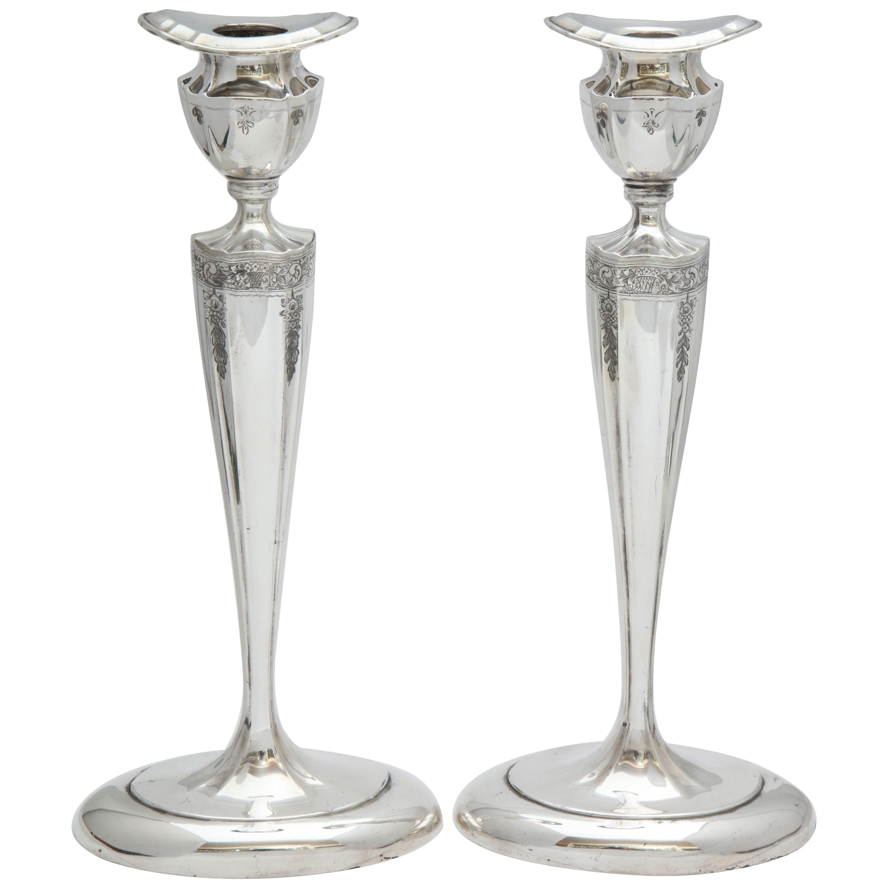 faf1b413fa4 Silver Candle Holders - 639 For Sale at 1stdibs