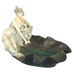Art Nouveau Terracotta Sculpture or Vide-Poche from Austria, circa 1910s