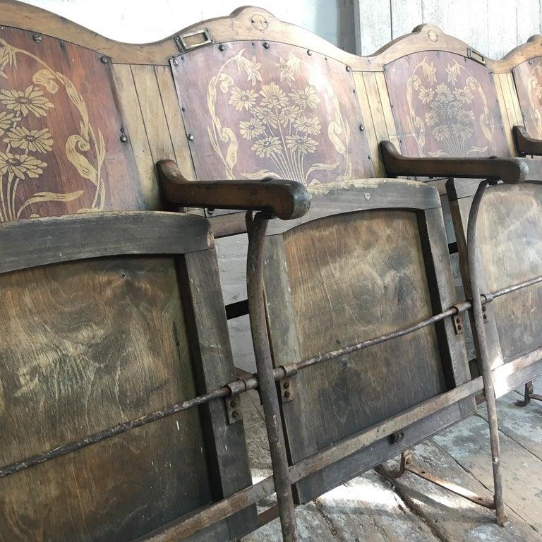 Art Nouveau Theatre/Cinema Seats, circa 1910 For Sale 8