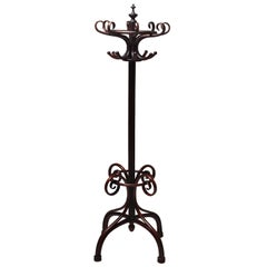 Art Nouveau Thonet Bent Wood Free Standing Coat Rack, France, 1900