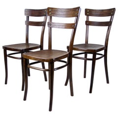 Art Nouveau Thonet Chairs Bentwood Set of Three, Austria, circa 1905