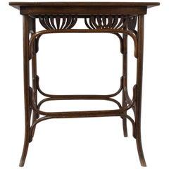 Art Nouveau Thonet Fischel Side Table Palmettes Model, Early 20th Century