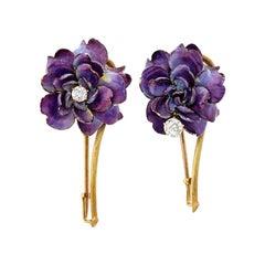 Art Nouveau Tiffany Flower Pins