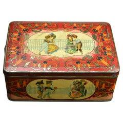 Art Nouveau Tin Box with different Scenes of Children