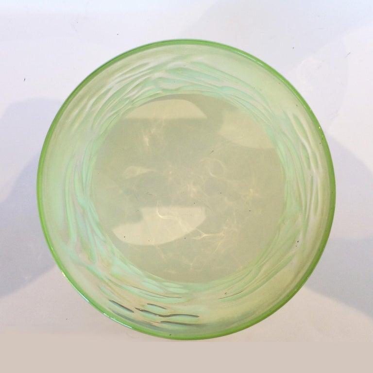 Art Nouveau Vaseline Glass Floral Lamp or Ceiling Light Shade 3