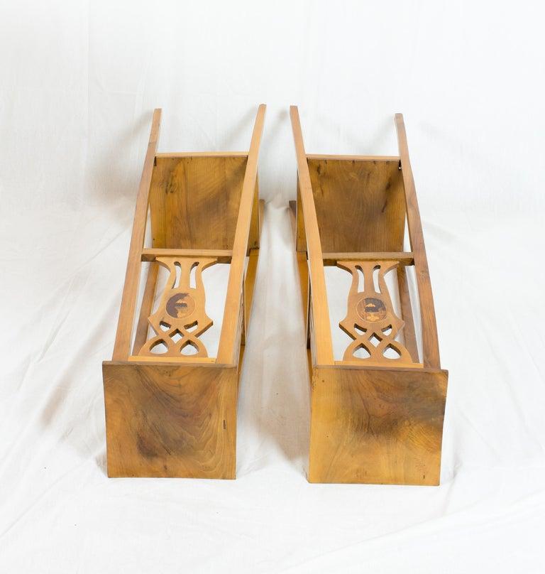 Early 20th Century Art Nouveau Walnut Flower Stands / Pedestals For Sale