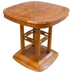 Salon Tisch aus Nussbaumholz im Jugendstil