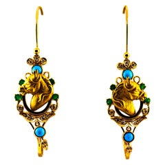 Art Nouveau Lever-Back Earrings