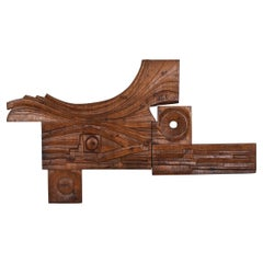 Art Panel Hand Carved by Nioi, Italy, 1974 in the Style of Nerone & Patuzzi
