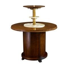 Art Deco Pop Up Cocktail Bar Table, 1930s