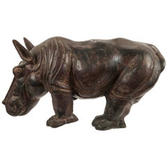 Art Pottery Hippopotamus Sculpture