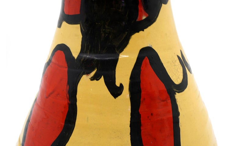Art Pottery Lidded Vase by Ken Ferguson, Signed In Good Condition For Sale In Kansas City, MO