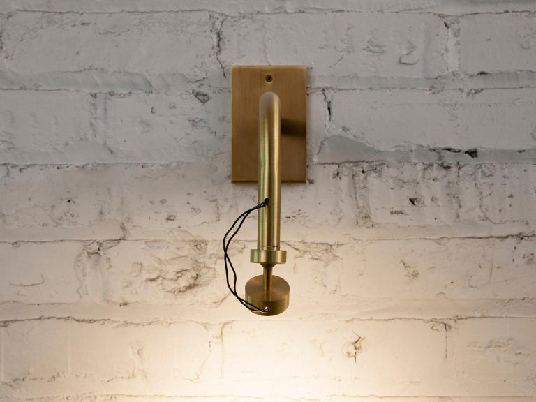 Patinated Art Sconce, Handcrafted in Chicago, Designed by Christopher Gentner For Sale
