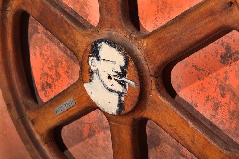 American Art Sculpture Wheel by Robert Loughlin '1949 – 2011' For Sale