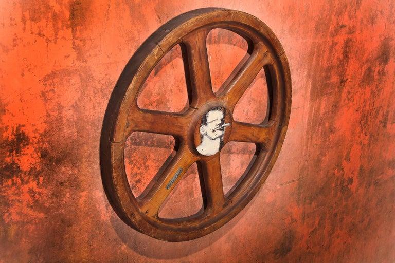 Art Sculpture Wheel by Robert Loughlin '1949 – 2011' In Good Condition For Sale In Voorburg, NL