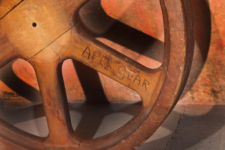 Wood Art Sculpture Wheel by Robert Loughlin '1949 – 2011' For Sale