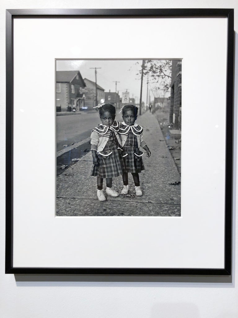 Brooklyn, Illinois, Twins, 1952 - For Ebony Magazine in Lovejoy AKA Brooklyn, IL - Photograph by Art Shay