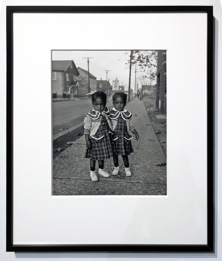 Brooklyn, Illinois, Twins, 1952 - For Ebony Magazine in Lovejoy AKA Brooklyn, IL - Contemporary Photograph by Art Shay