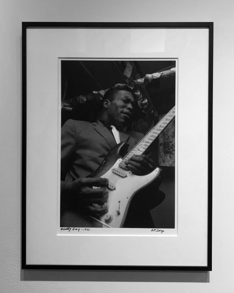 Blues Guitarist, Buddy Guy, 1966, Framed Photograph by Art Shay For Sale 1