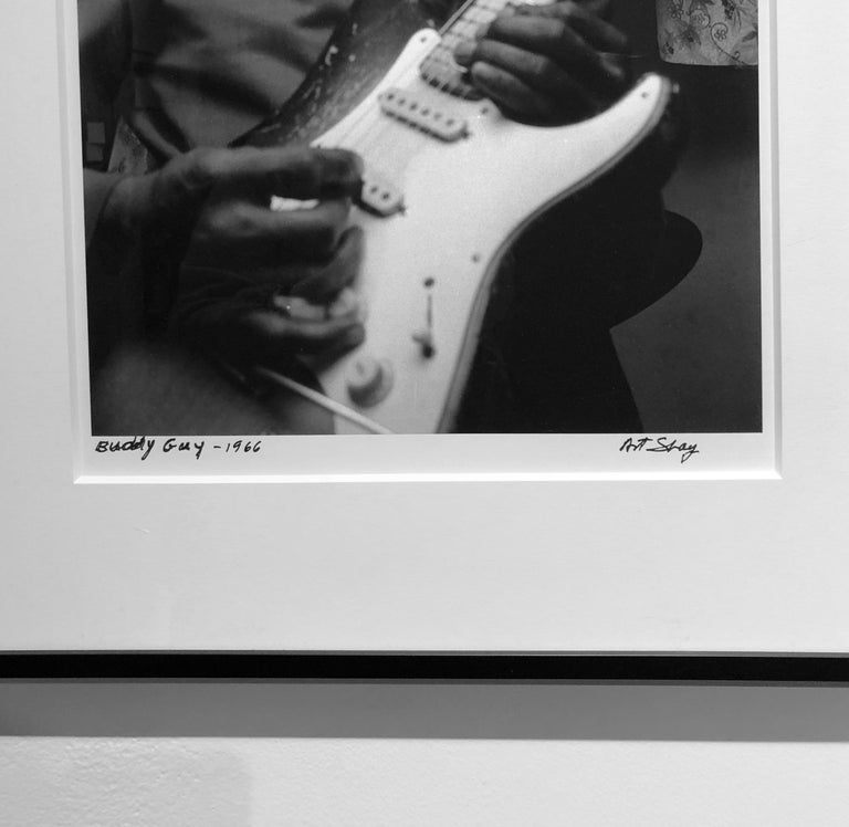 Blues Guitarist, Buddy Guy, 1966, Framed Photograph by Art Shay For Sale 2