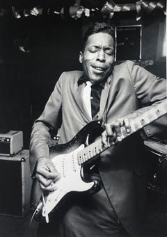 Buddy Guy, 1966,Chicago Blues Guitarist, Silver Gelatin Black & White Photograph