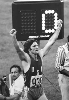 Caitlyn Bruce Jenner, Montreal Olympics, 1976, Black and White Photograph Framed