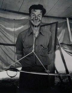Eyeball Freak, Circus Side Show Curiosity, Silver Gelatin Print, Framed, 1952