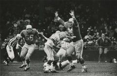 Green Bay Packer Bart Starr vs Detroit Lions Roger Brown, 1962 (vintage)