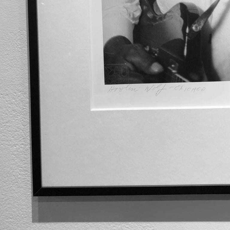 Blues Great Howlin' Wolf, Chicago 1966, Framed Black and White Photo by Art Shay For Sale 2